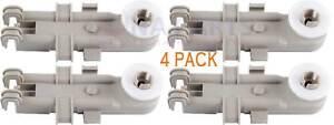 8268743 Upper Dish Rack Wheel For Whirlpool, Kenmore, Kitchenaid 4 Pack