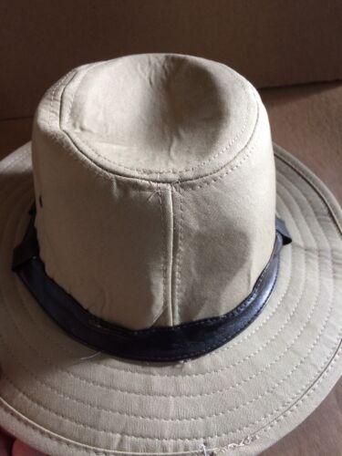 Men/'s Canvas Khaki Ajustée Safari Chapeau 100/% coton shell Taille L//XL neuf