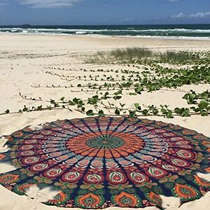 Mandala Beach Throw Tapestry Tablecloth Sarong Furniture