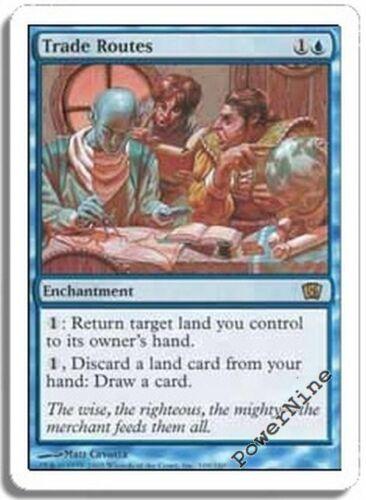 1 FOIL Trade Routes Blue Eighth 8th Edition Mtg Magic Rare 1x x1