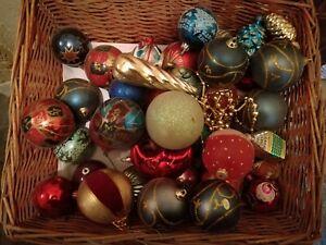 Addobbi Natalizi Vintage.Dettagli Su Addobbi Palle Di Natale Vintage In Vetro E Non Lotto 40 42 Palle Circa