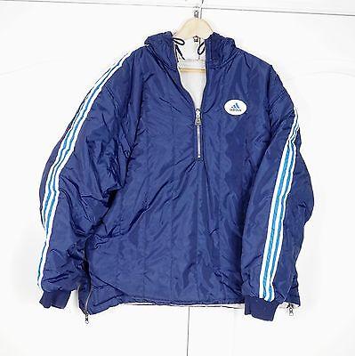 Vintage Adidas 90s reversible Jacket Size L Navy Blue Pullover Windbreaker | eBay