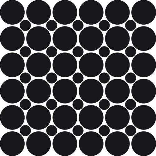 Mural Tatouage Confettis 61 pièces Set points en 2 tailles//11 et 5 cm