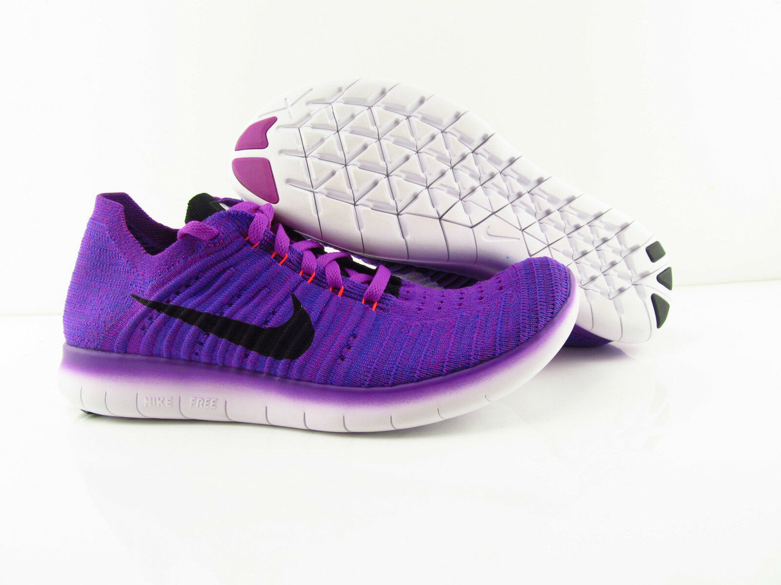 Nike Wmns Free New RN Flyknit Vivid Purple Running New Free US_7.5 UK_5 Eur 38.5 580eda