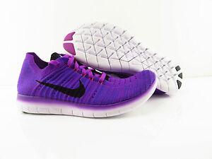 Nike Wmns Free RN Flyknit Multicolor Blau Running New US 7.5 UK 5 Eur 38.5