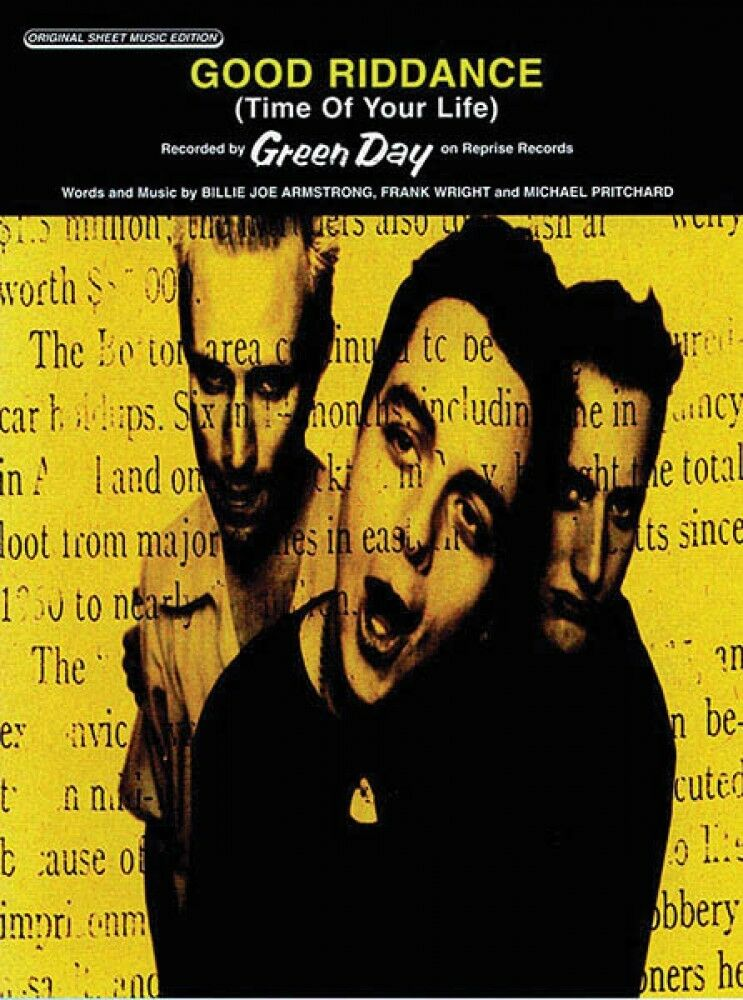 Good Riddance Time Of Your Life By Green Day Piano Sheet Music