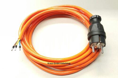 Stromkabel Geräteanschlusskabel Verlängerung H05BQ-F 3x1 3m orange kerbfest