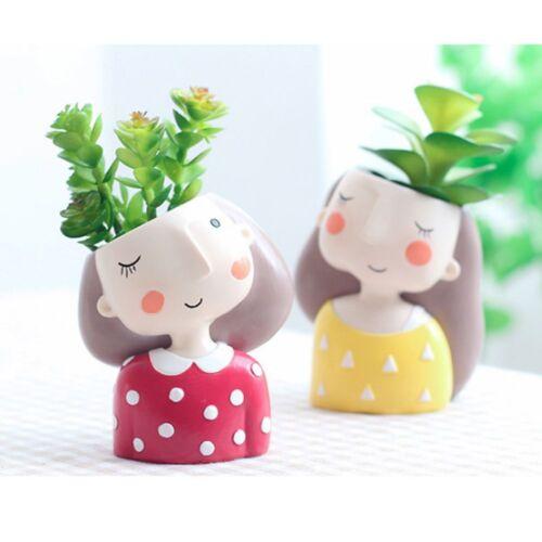 Resin Plant Flower Pot Succulent Desktop Planter Bonsai Cartoon Pot Home Decor
