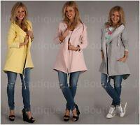 New women Sweatshirt Coat  Blazer Jacket Top Ladies Casual Hoody size 8 10 12
