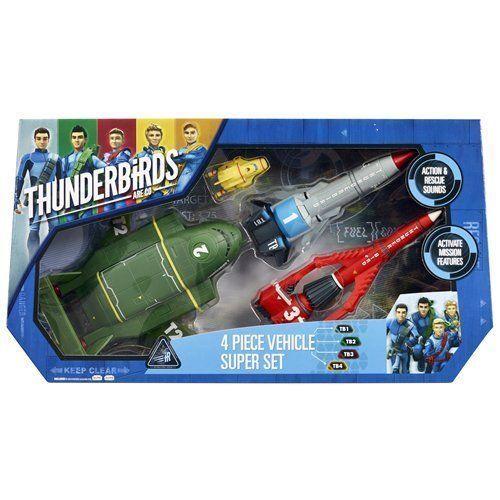 Thunderbirds Vehicle Super Set 4 Piece Super Set With Sound Effects