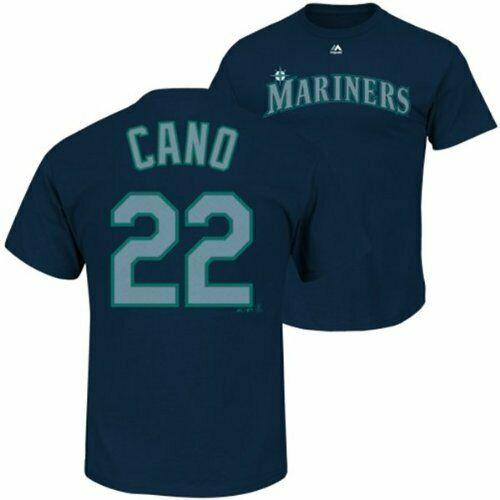 Majestic Seattle Mariners MLB Men/'s Cano 22 T-Shirt Navy S,M,L New