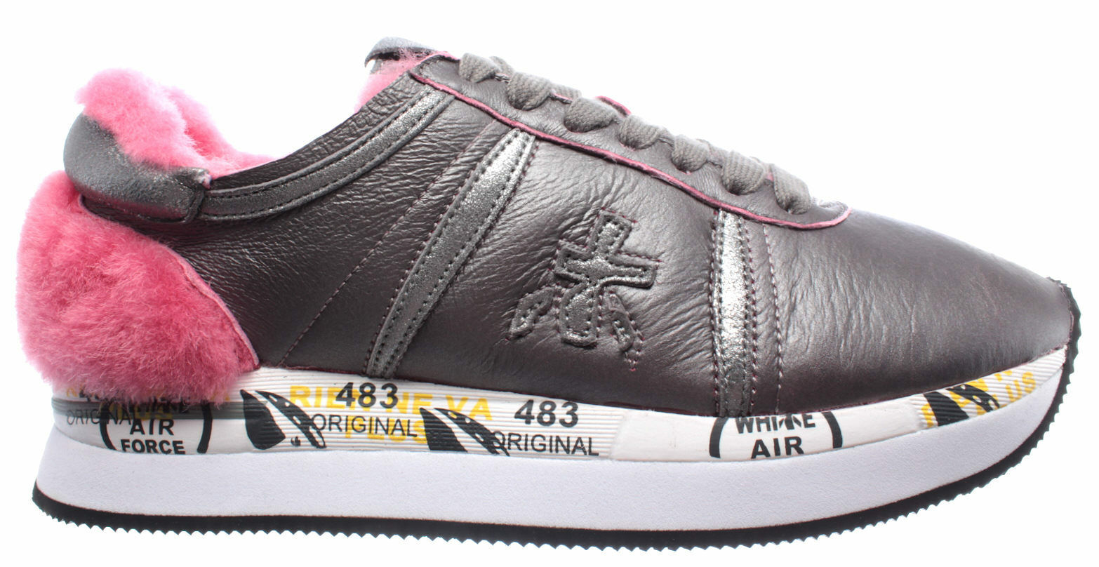Women's shoes Sneakers PREMIATA Conny Conny Conny 2613 Leather Grey Pink New efb6ea