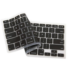 "USA Silicone Keyboard Cover Protector MacBook Pro 13"" 15"" 17"" Retina 13"" Black"