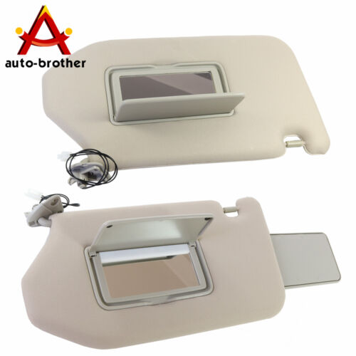 Left /& Right W// Lamp Sun Visor For 2014-2017 Infiniti QX60 2013-2018 Pathfinder