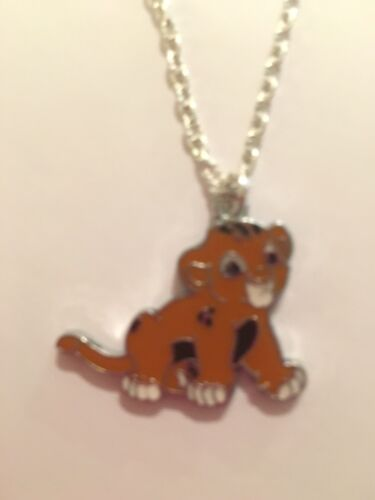 """CUTE SIMBA LION CUB  CHARM Necklace 18/"""" Silver Plated Chain Present  Gift Bag."""