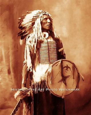SIOUX INDIAN WARRIOR SWIFT DOG VINTAGE PHOTO NATIVE AMERICAN OLD WEST  #21431