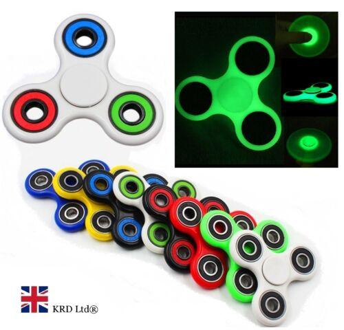 Neon EDC Glow in the Dark Main Doigt Bangers Spinner TDAH Stress Relief Gadget