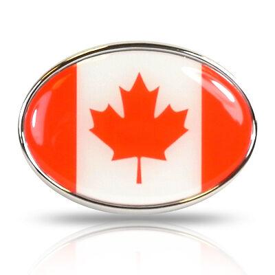 Canada Canadian Flag  Metal Silver Chrome finish Car auto License plate frame