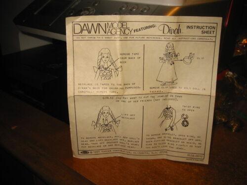 Dawn Doll Dinah/'s,Instruction Sheet