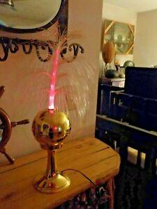 Vtg-Fiber-Optic-Lamp-Spinning-Disco-Motion-Light-Tall-Tiered-Colors-Fantasia