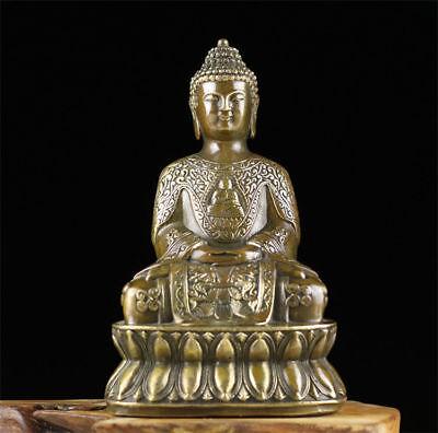 Chinese antique brass statue hand made MING QING Shakya Muni Buddhism