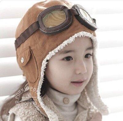 New Warm Baby Kid Toddler Boys Girls Winter Earflap Pilot Cap Aviator Hat Beanie