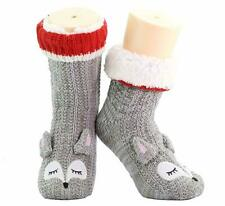 3D Novelty Womens Warm Chenille Slipper Socks Slippers Bed Boots Gift Boxed