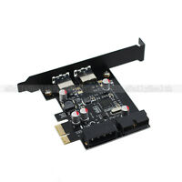 2 Port USB 3.0 5Gbps NEC Chipset PCi-E Express Addon Card with 20 Pin connector
