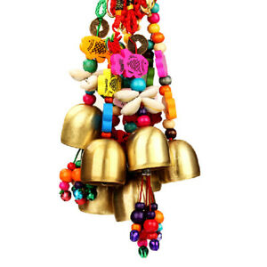 Charm-Xmas-Copper-Bell-Mobile-Wind-Chime-Home-Yard-Garden-Outdoor-Living-Decor