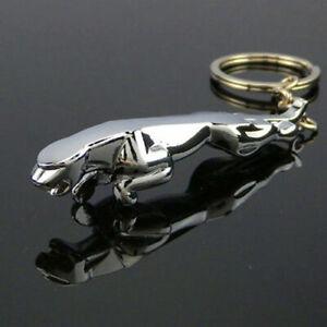 Jaguar-Car-Keyring-Key-Ring-keychain-3D-Metal-Chrome-Stainless-Steel-Polished-OZ