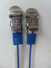 Vintage NOS Classic 80's Campagnolo Pedal Straps  WHITE BLUE 4  Colnago Bianchi