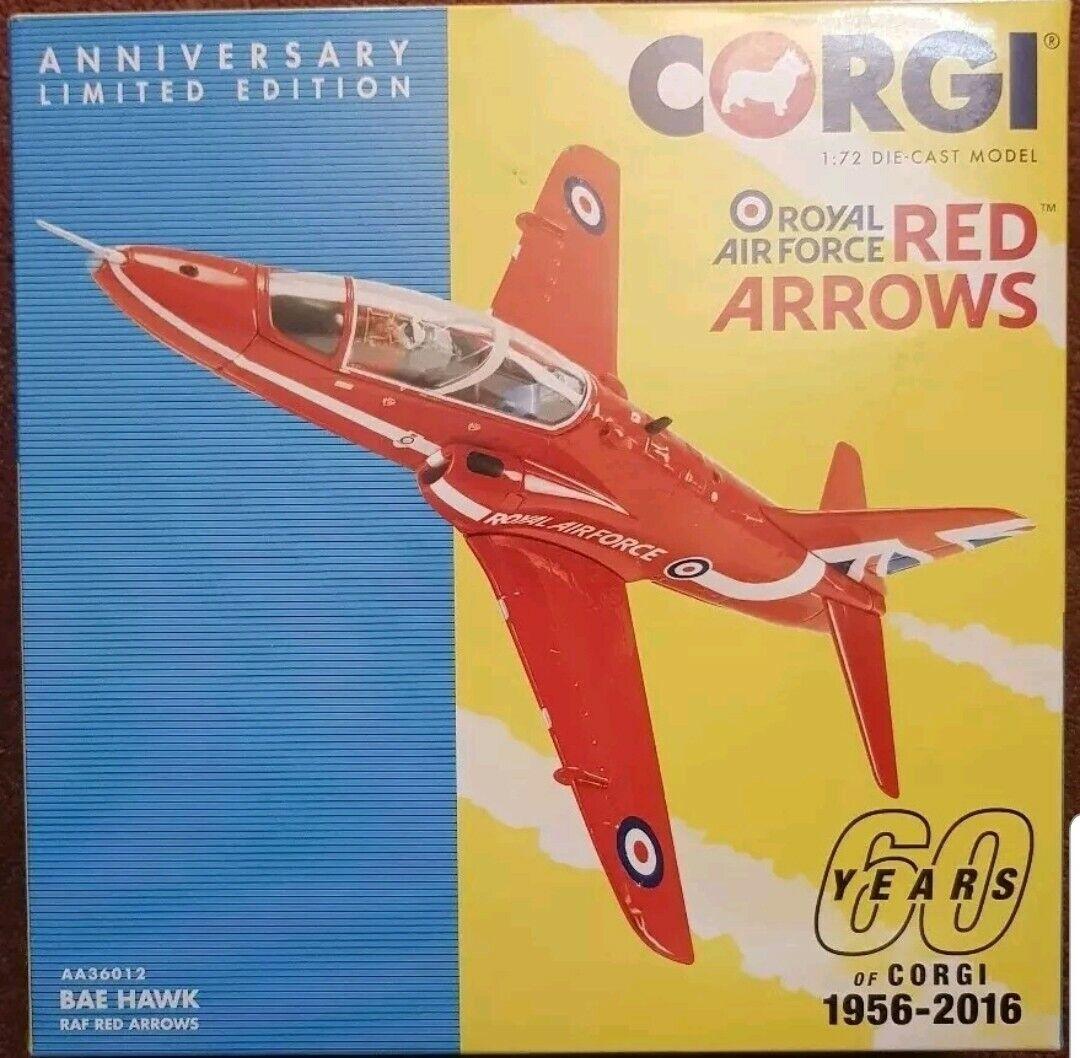 tienda en linea Corgi aviación BAE Hawk Raf Flechas Rojas 60 60 60 años de Corgi 1956-2016 AA36012 1 72  te hará satisfecho