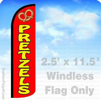 Windless Swooper Feather Flag Tall Banner Sign 3' Wide FIREWORKS RED BLUE