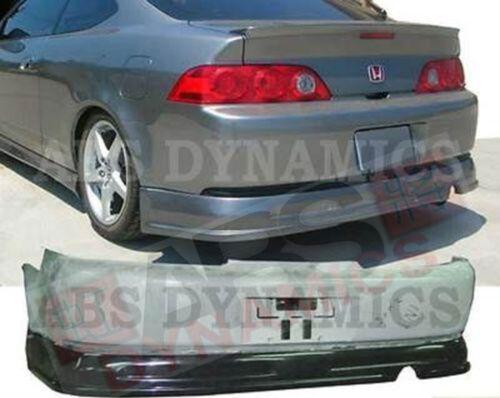 2005 2006 Acura RSX DC5 P1 Style Rear Bumper Lip Unpainted ABS Black Plastic