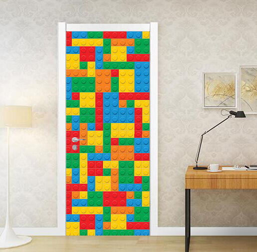 3D Tetris Tür Wandmalerei Wandaufkleber Aufkleber AJ WALLPAPER DE Kyra