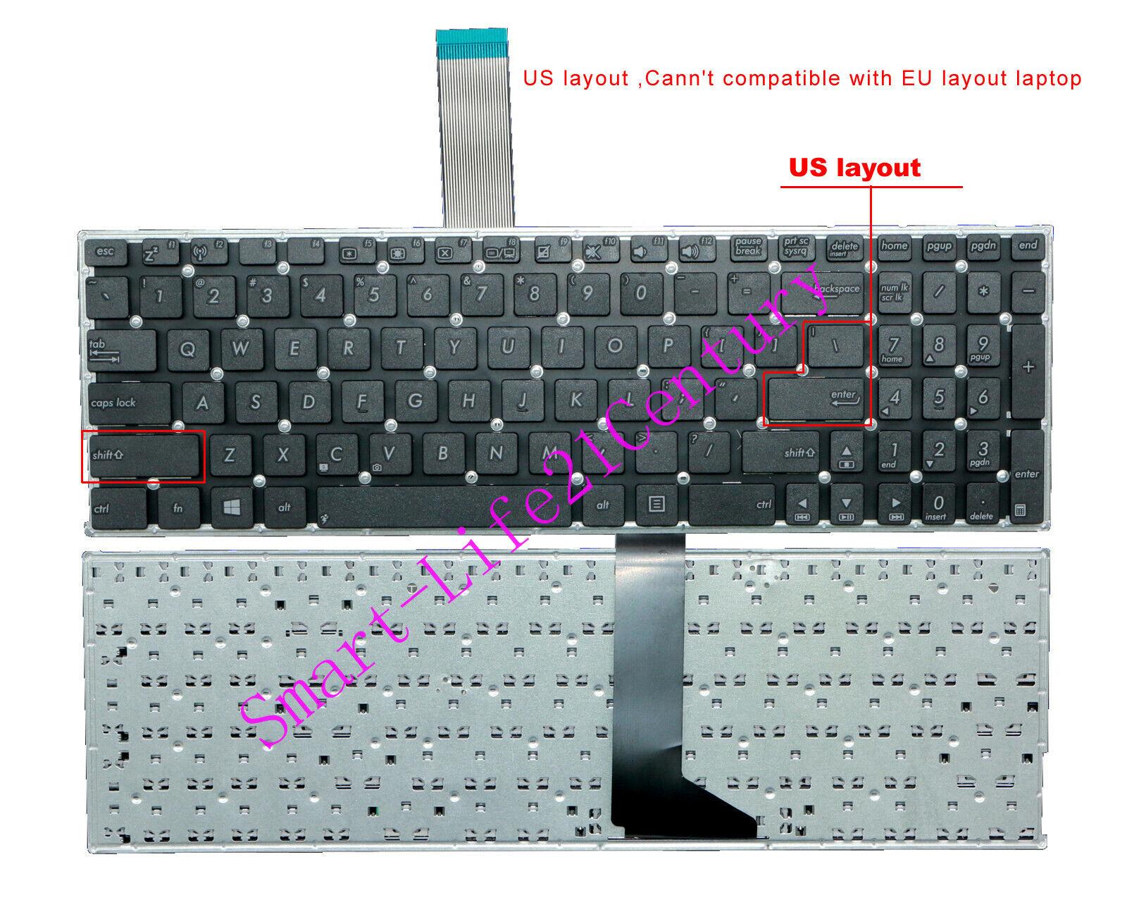 New For Asus X550C X550CC A550 A550DP F550 X551 X552 K550CC K552 US Keyboard