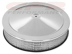 "Hi-Lip Base Chevy Ford Mopar 14/"" Chrome Steel Air Cleaner Set"