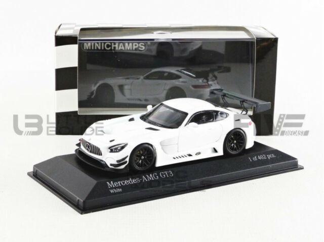 Minichamps 410173200 1:43 2017 Mercedes AMG GT3 Plain Body Version-White