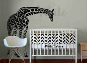Details About Giraffe Wall Decal Sticker Nursery Decor R614