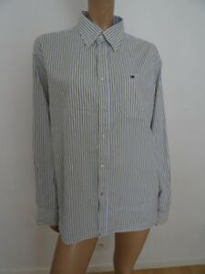 Chemise Tommy Hilfiger blanche/rayures taille L