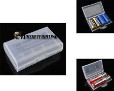 18650 Battery Case Box Holder Storage White for 2X 18650 or 4*16340/CR123A A