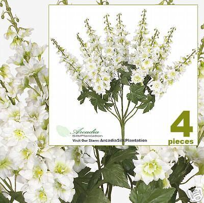 FOUR 26  Delphinium Artificial Flower Bushes Wedding CG