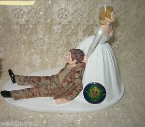 camo wedding cake topper wedding reception army cake topper desert 12341