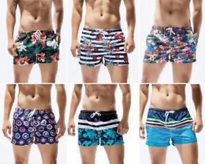 Seobean-Men-Swim-Trunks-Drawstring-Elastic-Waist-Surfing-Beach-Board-Shorts