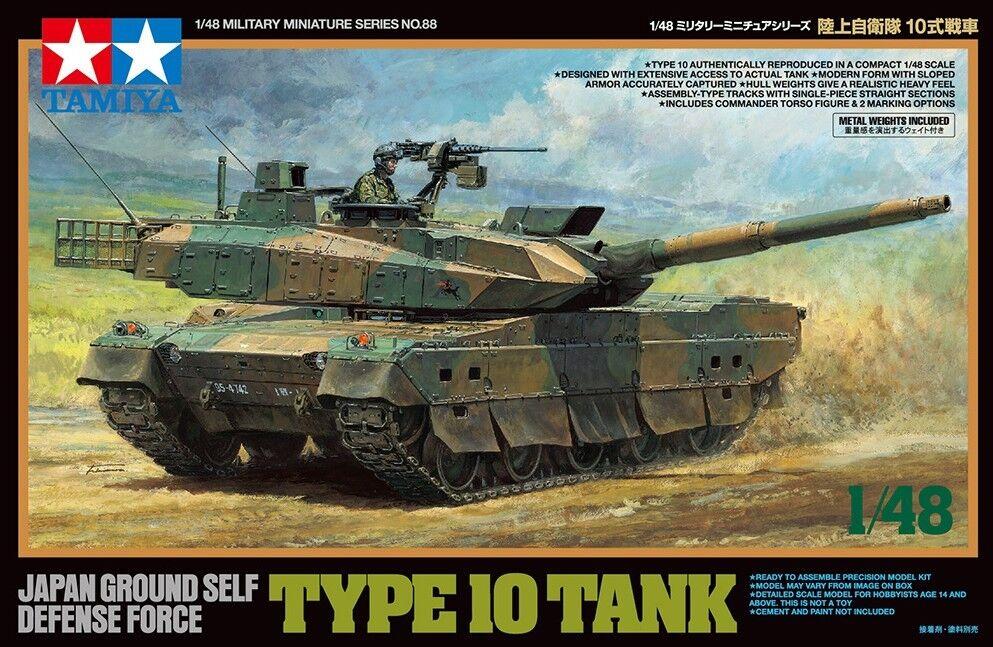 Tamiya 1  48 Typ 10 Tank japan Ground Self Defense Force