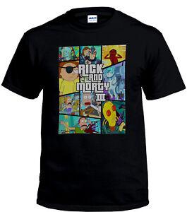 Erwachsene-Cartoon-Herren-T-Shirt-All-Seasons-Rick-amp-Morty-Mash-Up-T-Shirt