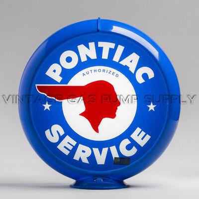 """Pontiac Service 13.5/"""" Gas Pump Globe w// Steel Body G163"""
