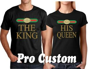 9c9b17c87a The KING HIS QUEEN Valentine's Matching Couple Cute T-Shirts S-5XL ...