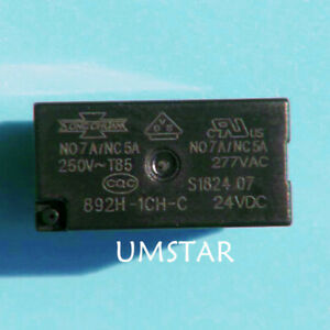 2PCS 892H-1CH-C-24vdc Relay SONG CHUAN 24V 7A 5PIN Brand New