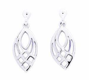 Image Is Loading Sterling Silver Teardrop Filigree Drop Earrings Uk Made